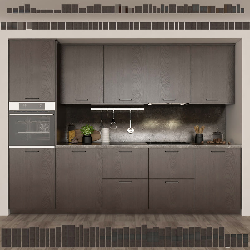 3d Models Kitchen IKEA Kitchen EKESTAD Oak Ekestad Oak