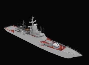 3D salvage chevrolet corvette model