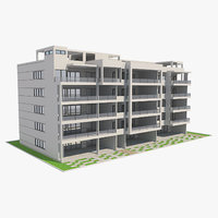 3D building apartment