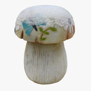 garden mushroom decoration 3D