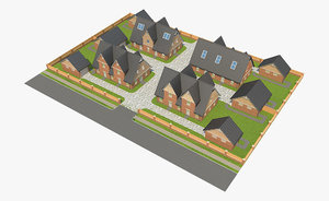 brick house block 3D model