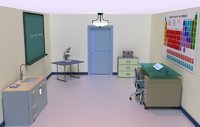 3D interior chemistry lab model