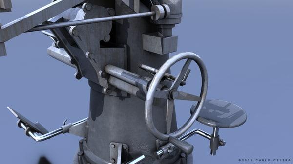 3D model gun vickers-terni 40mm