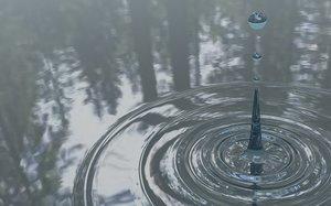 3D water drop