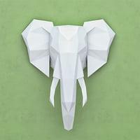 Polygonal paper elephant