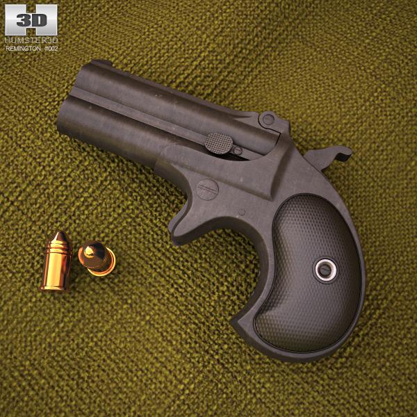 3D remington derringer 1866