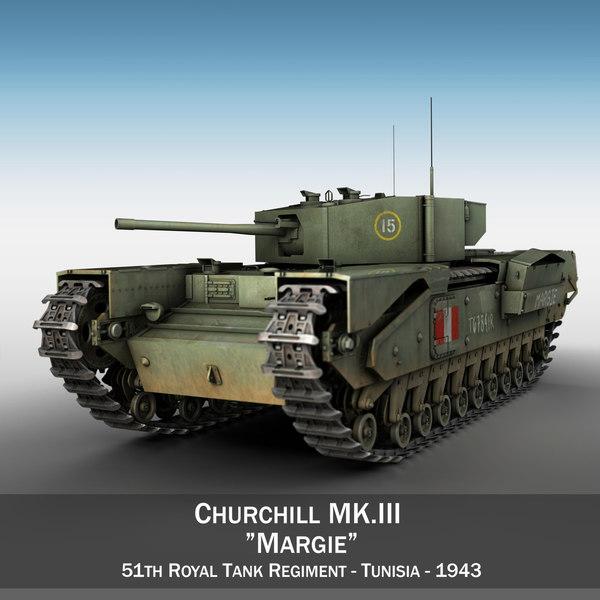 british churchill mk iii 3D model