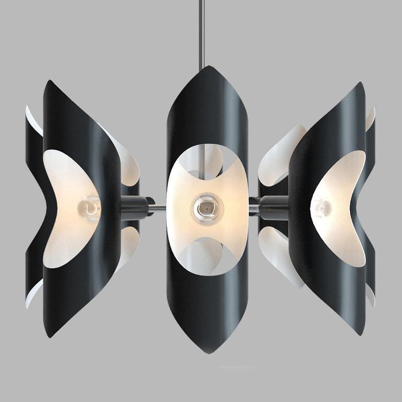 vickery chandelier 3D model