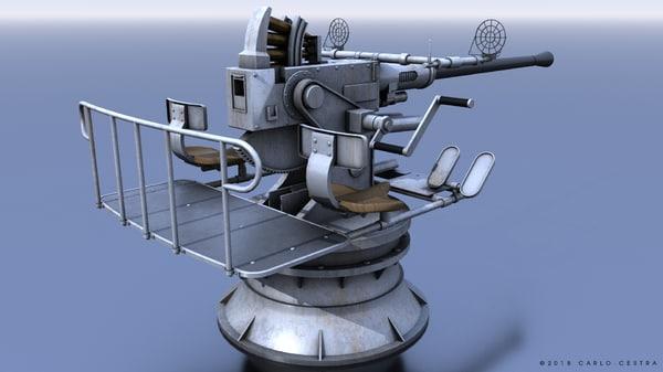 bofors gun 3D model
