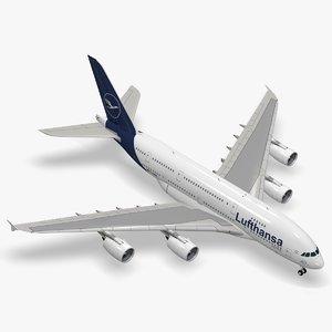 3D airbus a380-800 lufthansa a380