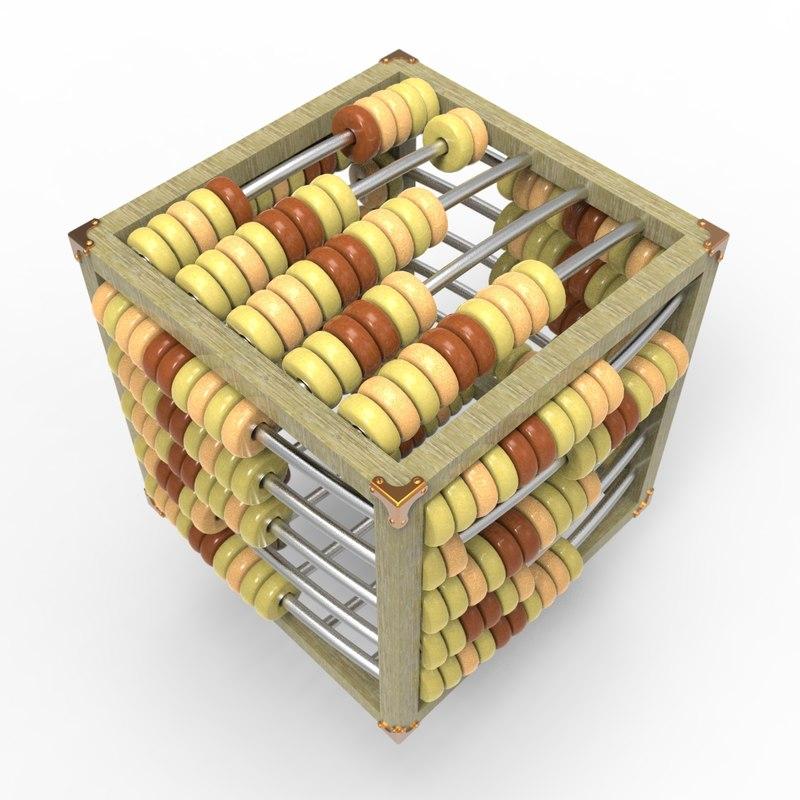3D cubic abacus