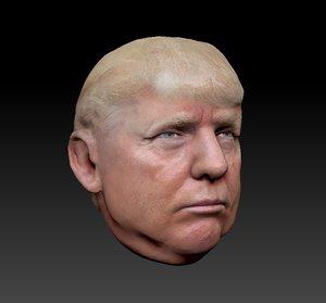 trump head 3D model