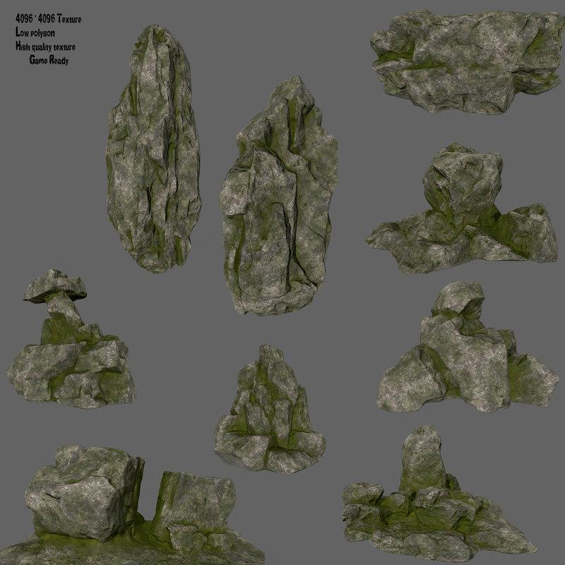 3D rock cliff model