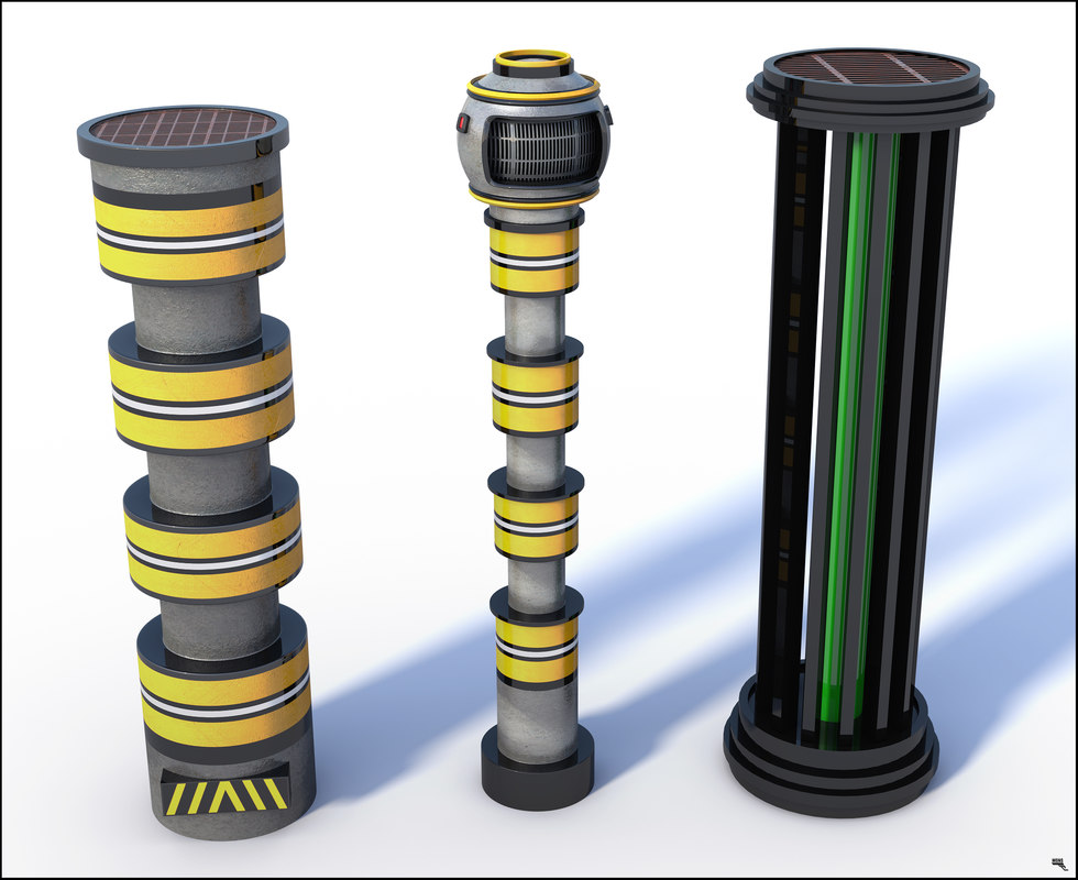 sci-fi column 3D model