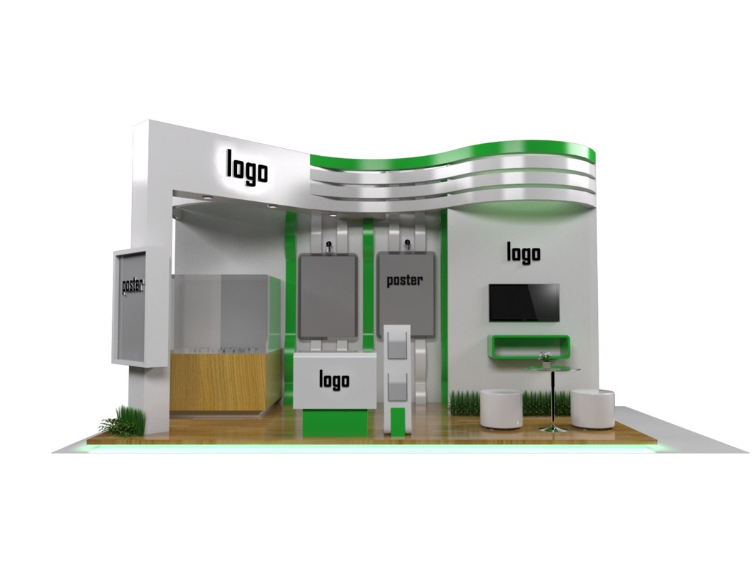 Exhibition Stand 3d Model Sketchup : D exhibition stand model turbosquid