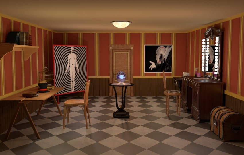 3D mysterious magician room