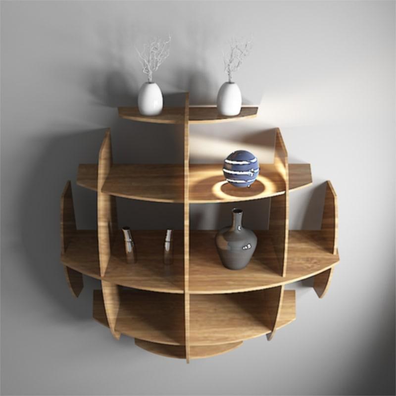 wood shelf 3D model