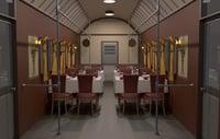 3D model restaurant train