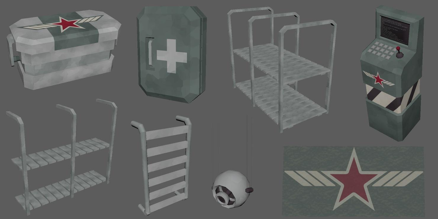 crate units 3D model