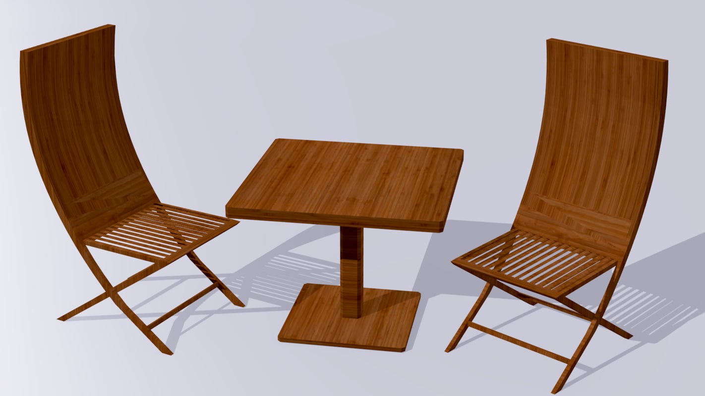 3D garden furniture model