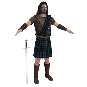 william wallace 3D model