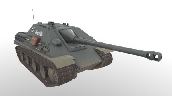 3D model german tank jagdpanther time