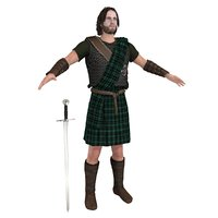 3D scottish warrior 1