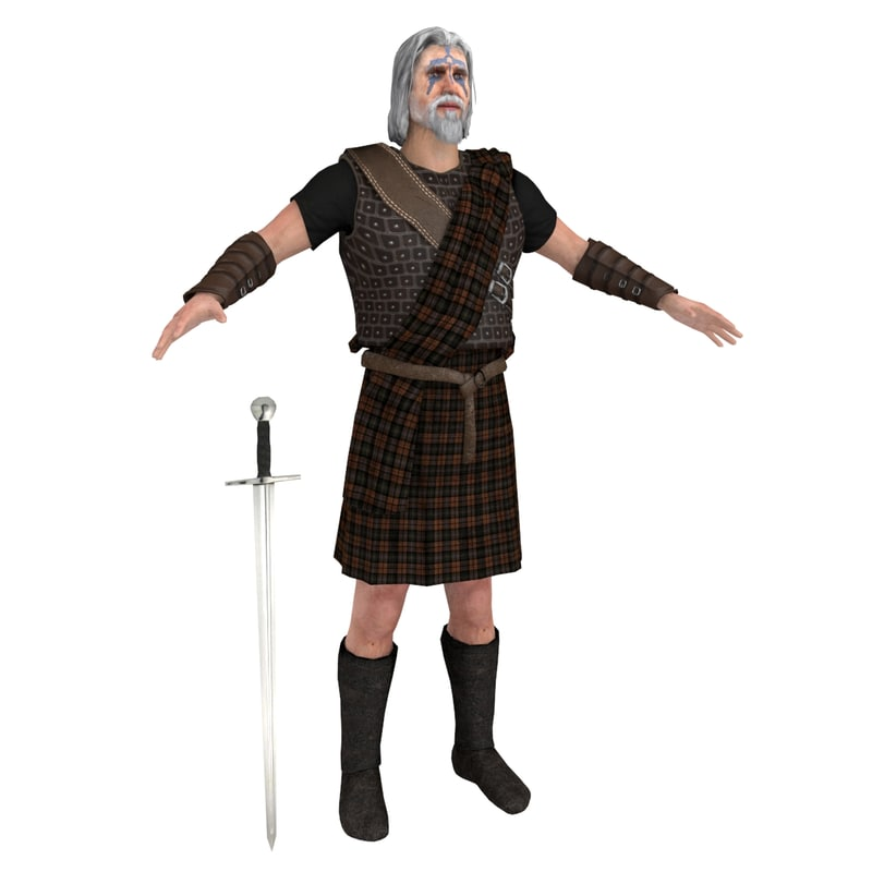 scottish warrior 2 3D