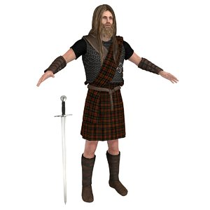 scottish warrior model