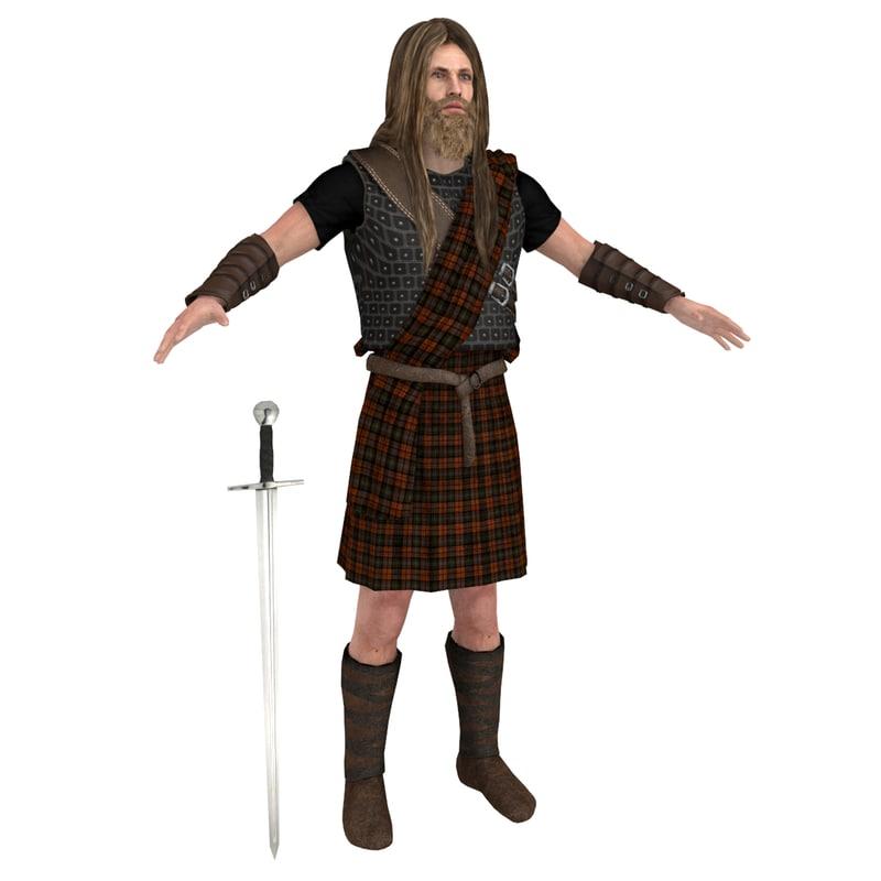 scottish warrior model