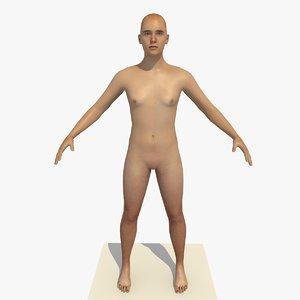 realistic human body 25 model