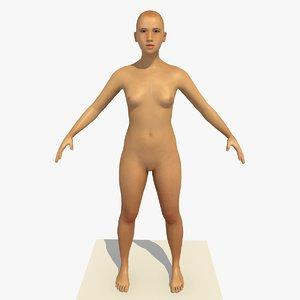 realistic human body 25 3D model