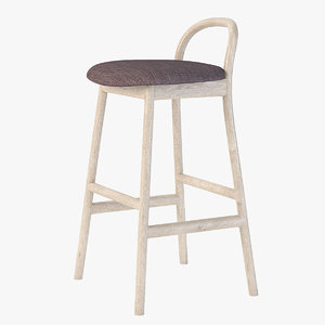 barstool stool bar 3D