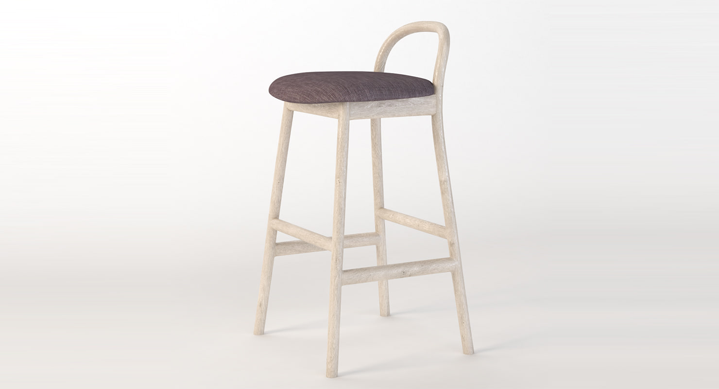 barstool stool bar 3D