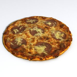 3D pizza salami