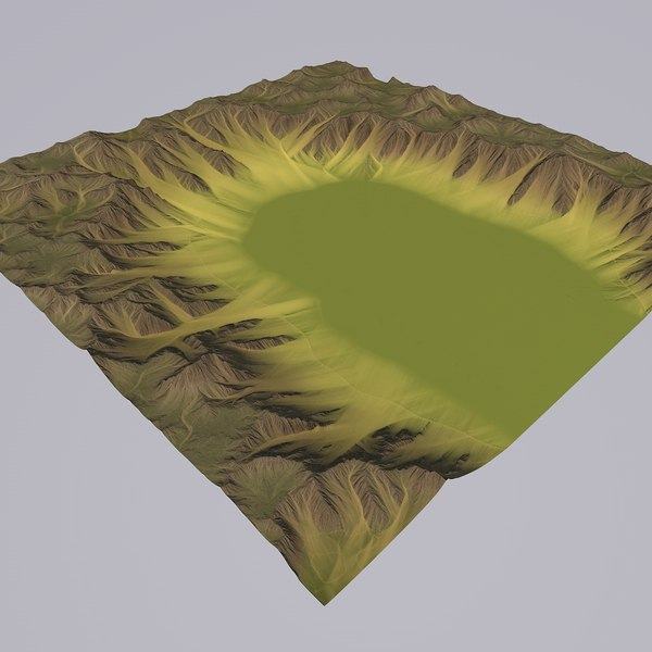 3D valley games maps model
