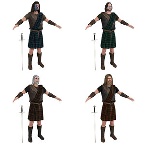 3D pack scottish warriors