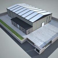 3D factory 2 industrial model