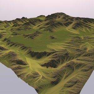 3D big valley model