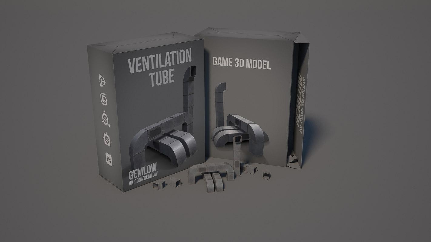 3D ventilation tube