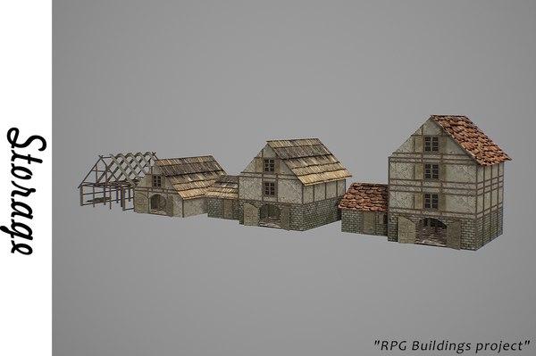 store storehouse house 3D model