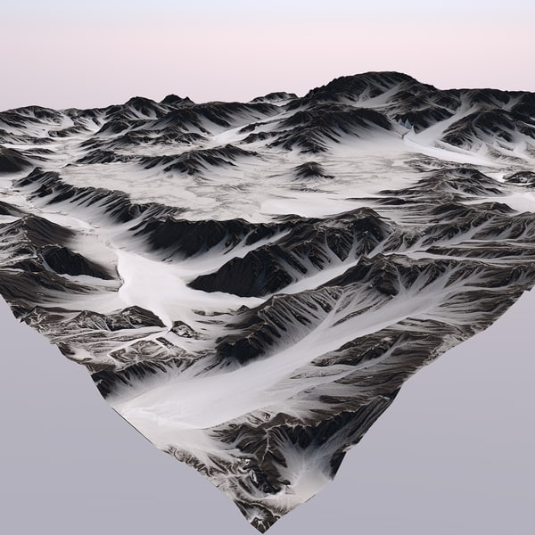 snowy terrain 3D model