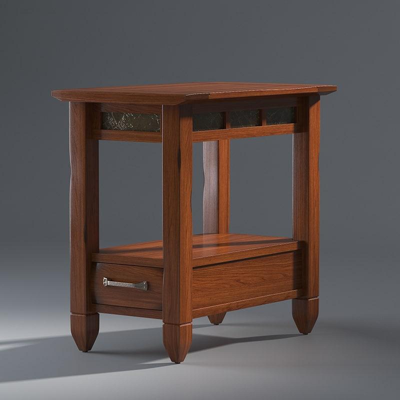 3D atkinson end table