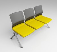 modern waiting seating 3D model