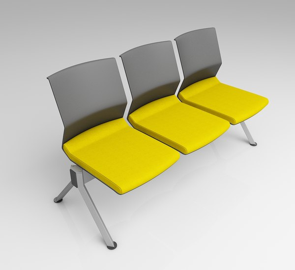 modern waiting seating 3D model