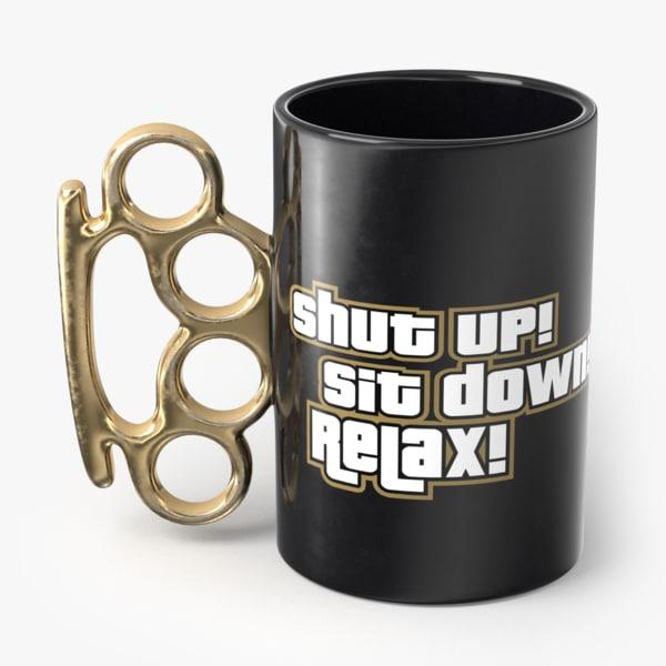 knuckle mug 3D model