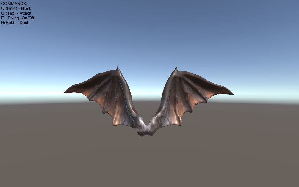 3D blendshape demon bat wings model