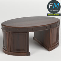 3D oval office executive desk model