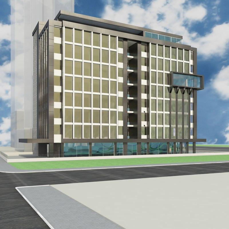 3D modern government revenue building