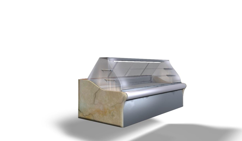 refrigerator cafeteria 3D model